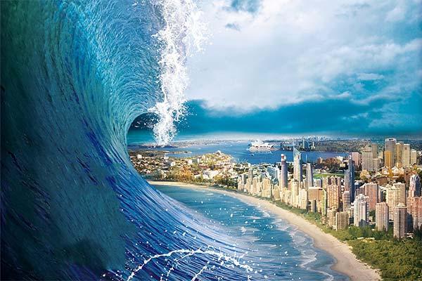 Сонник цунамі: до чого сниться і що означає сон про цунамі