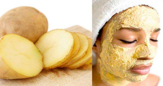 Картопляна маска від набряків на обличчі