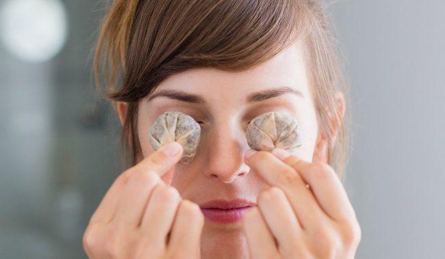 Чайні пакетики на очі від набряків