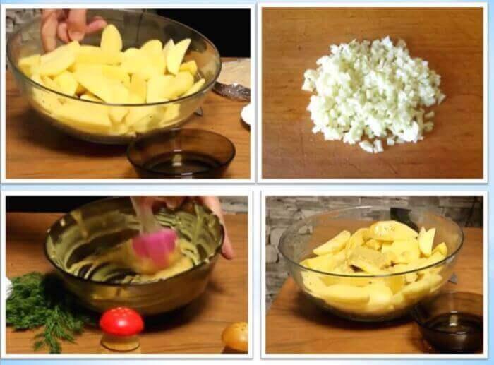Дуже смачний рецепт картоплі з куркою, сметаною і гірчицею