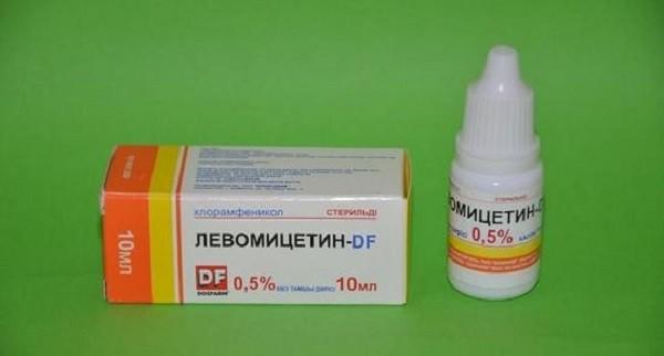 Краплі левоміцетин
