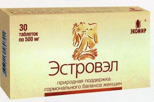 Естровел - негормональний препарат при клімаксі