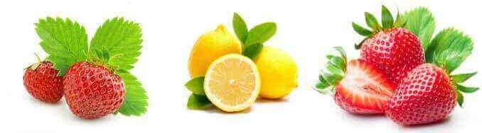 полуниця, суниця, лимон