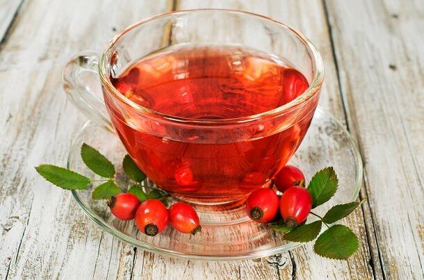 Корисні властивості чаю з шипшиною